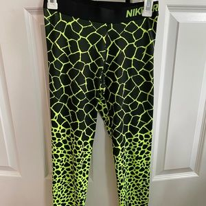 Animal print Nike running leggings